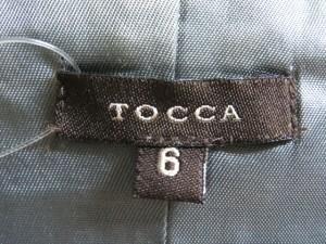 トッカ TOCCA ワンピース サイズ6 M レディース 白×グレー チェック柄【中古】