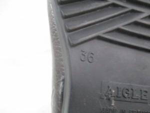 エーグル AIGLE レインブーツ 36 レディース ダークブラウン ミドル丈 ラバー【中古】