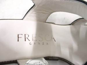 フレスカ FRESCA サンダル 21.5 レディース ダークブラウン エナメル(レザー)【中古】