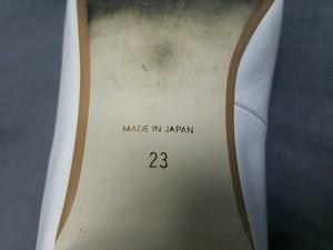ナンバートゥエンティワン NUMBER TWENTY-ONE フラットシューズ 23 レディース 白×ライトグレー レザー【中古】