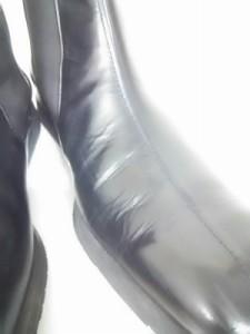 アシックス ランウォーク asics RUNWALK ショートブーツ 26 1/2EEE メンズ 美品 黒 サイドゴア レザー×化学繊維【中古】