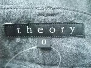 セオリー theory パンツ サイズ0 XS レディース 美品 ダークグレー【中古】