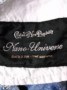 ナノユニバース nano universe ジーンズ サイズ36 S レディース 美品 ブルー ダメージ加工【中古】