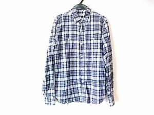 ドレステリア DRESSTERIOR 長袖シャツ サイズS メンズ ネイビー×パープル×マルチ チェック柄【中古】