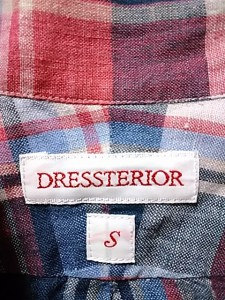 ドレステリア DRESSTERIOR 長袖シャツ サイズS メンズ レッド×ネイビー×マルチ チェック柄【中古】