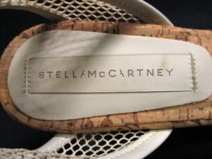 ステラマッカートニー stellamccartney サンダル レディース アイボリー ウェッジソール/メッシュ 化学繊維×レザー【中古】
