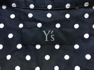 ワイズ Y's 長袖シャツブラウス サイズ1 S レディース 美品 黒×白 変形デザイン/ドット柄【中古】