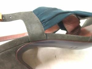 ロートレショーズ L'AUTRE CHOSE サンダル 37 レディース 美品 カーキ×ネイビー スエード【中古】