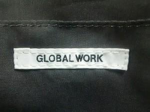 グローバルワーク GLOBAL WORK トートバッグ レディース 美品 アイボリー×黒 キャンバス×合皮【中古】