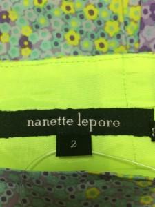 ナネットレポー nanettelepore スカート サイズ2 S レディース 美品 パープル×イエロー×マルチ 花柄/プリーツ【中古】