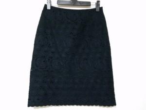 アナイ ANAYI スカート サイズ36 S レディース 美品 黒 刺繍【中古】