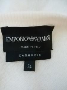 エンポリオアルマーニ EMPORIOARMANI 長袖セーター サイズ54 L メンズ アイボリー【中古】