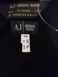 アルマーニジーンズ ARMANIJEANS 長袖カットソー サイズXLus メンズ 黒【中古】