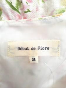 デビュードフィオレ Debut de Fiore ワンピース サイズ38 M レディース 美品 アイボリー×ピンク×マルチ 花柄/ボーダー【中古】