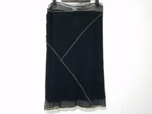 アンナモリナーリ ANNA MOLINARI スカート サイズ40(I) M レディース 美品 黒 メッシュ【中古】