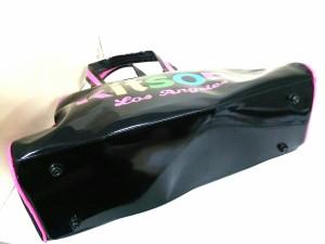 キットソン kitson ボストンバッグ 美品 黒×ピンク×マルチ PVC(塩化ビニール)【中古】