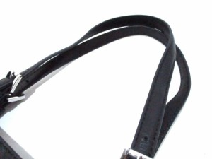マイケルコース MICHAEL KORS トートバッグ 美品 ダークグレー×黒 PVC(塩化ビニール)×レザー【中古】