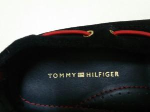 トミーヒルフィガー TOMMY HILFIGER シューズ 25 レディース 黒×レッド スエード【中古】