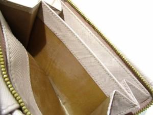 プラダ PRADA 2つ折り財布 美品 - 1ML225 ベージュ レザー【中古】