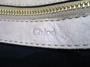 クロエ Chloe ショルダーバッグ エテル ベージュ レザー×エナメル(レザー)【中古】