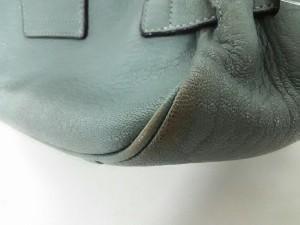 トフアンドロードストーン TOFF&LOADSTONE ハンドバッグ 美品 ブルーグリーン レザー【中古】