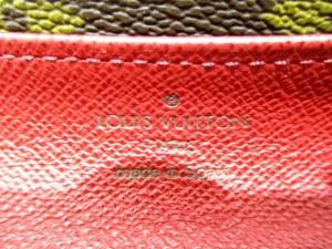 ルイヴィトン 長財布 モノグラム 美品 ポルトフォイユ・エミリー M60697 フューシャ イニシャル刻印 モノグラム・キャンバス【中古】