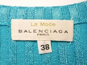 バレンシアガ BALENCIAGA ノースリーブセーター サイズ38 M レディース 新品同様 ライトブルー La Mode【中古】
