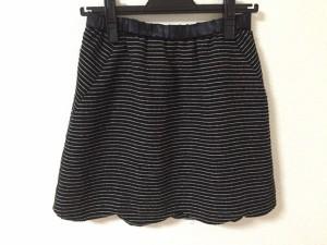 シンシアローリー CYNTHIA ROWLEY ミニスカート サイズ2 S レディース 美品 黒×白 ボーダー【中古】