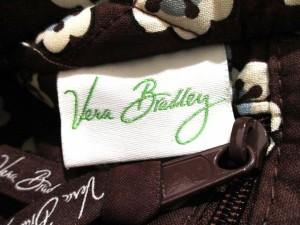 ベラブラッドリー Vera Bradley トートバッグ アイボリー×ダークブラウン×マルチ 花柄/キルティング コットン【中古】
