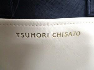 ツモリチサト TSUMORI CHISATO ハンドバッグ 美品 ダークネイビー×ゴールド ネコ 合皮×金属素材【中古】