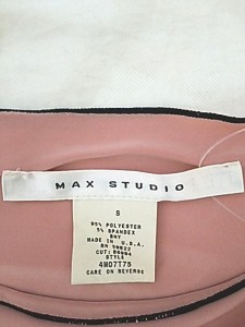 マックススタジオ MAXSTUDIO チュニック サイズS レディース 新品同様 ベージュ×黒 ギャザー【中古】