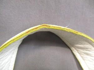 フランチェスコ・ビアジア FRANCESCO BIASIA トートバッグ 白×ライトグリーン 巾着型/タッセル 合皮【中古】