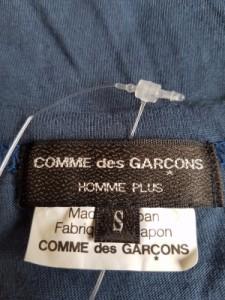 コムデギャルソンオムプリュス COMMEdesGARCONS HOMME PLUS 半袖Tシャツ メンズ ダークグレー×レッド【中古】