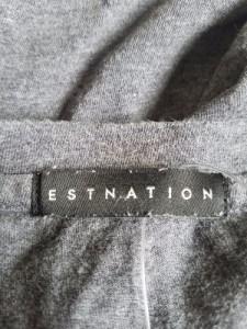 エストネーション ESTNATION 長袖Tシャツ メンズ グレー Vネック【中古】