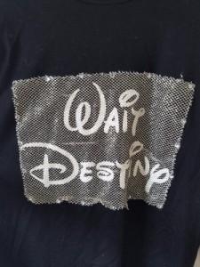 マスターマインド mastermind 長袖Tシャツ メンズ 黒×白×ゴールド ラインストーン/ディズニー【中古】