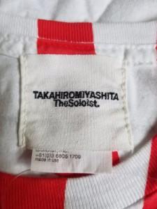 タカヒロミヤシタ ザ ソロイスト. TAKAHIROMIYASHITA The SoloIst. 半袖Tシャツ メンズ 白×レッド【中古】