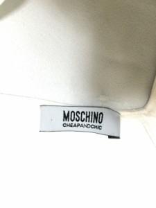 モスキーノ チープ&シック MOSCHINO CHEAP&CHIC ノースリーブカットソー レディース 白【中古】