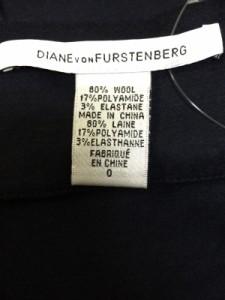 ダイアン・フォン・ファステンバーグ DIANE VON FURSTENBERG(DVF) ワンピース サイズ0 XS レディース ダークネイビー【中古】