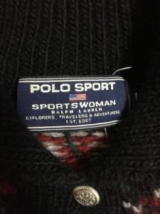 ポロスポーツラルフローレン PoloSportRalphLauren カーディガン レディース 黒×マルチ 花柄【中古】