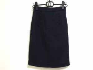 マークバイマークジェイコブス スカート サイズ0 XS レディース ダークネイビー レーズアップ/ボックスプリーツ【中古】