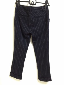 ダイアン・フォン・ファステンバーグ DIANE VON FURSTENBERG(DVF) パンツ サイズ0 XS レディース ダークネイビー ストライプ【中古】