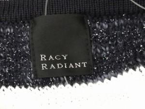 レーシーラディアント racy radiant ジャケット レディース 美品 白×ネイビー ボーダー【中古】