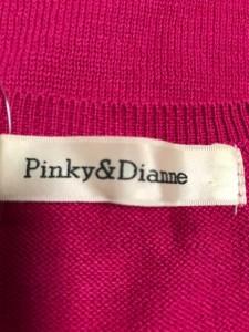 ピンキー&ダイアン Pinky&Dianne ノースリーブセーター レディース 新品同様 ピンク×ライトブラウン スパンコール【中古】