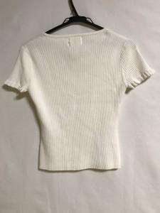 ナチュラルビューティー NATURAL BEAUTY 半袖セーター サイズサイズ  M レディース アイボリー【中古】