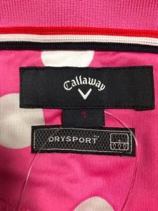 キャロウェイ CALLAWAY 半袖ポロシャツ サイズサイズ   S レディース 新品同様 ピンク×白×グレー ドット柄【中古】