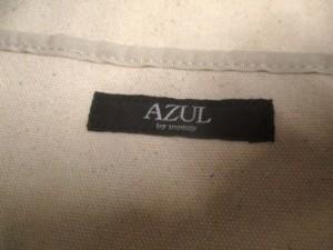 アズールバイマウジー AZUL by moussy トートバッグ ベージュ×黒 2way/ショルダーストラップ付き キャンバス【中古】
