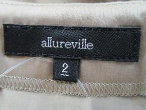 アルアバイル allureville ワンピース サイズ2 M レディース グレーベージュ 透け感あり【中古】
