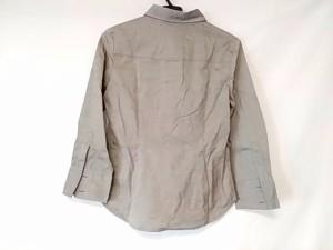 セオリー theory 長袖ポロシャツ レディース 美品 グレー 綿97 % ポリウレタン3%【中古】