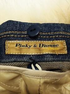 ピンキー&ダイアン Pinky&Dianne Gジャン サイズ38 M レディース ネイビー×アイボリー 冬物【中古】