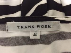 トランスワーク TRANS WORK ワンピース サイズ44 L レディース 美品 白×黒【中古】